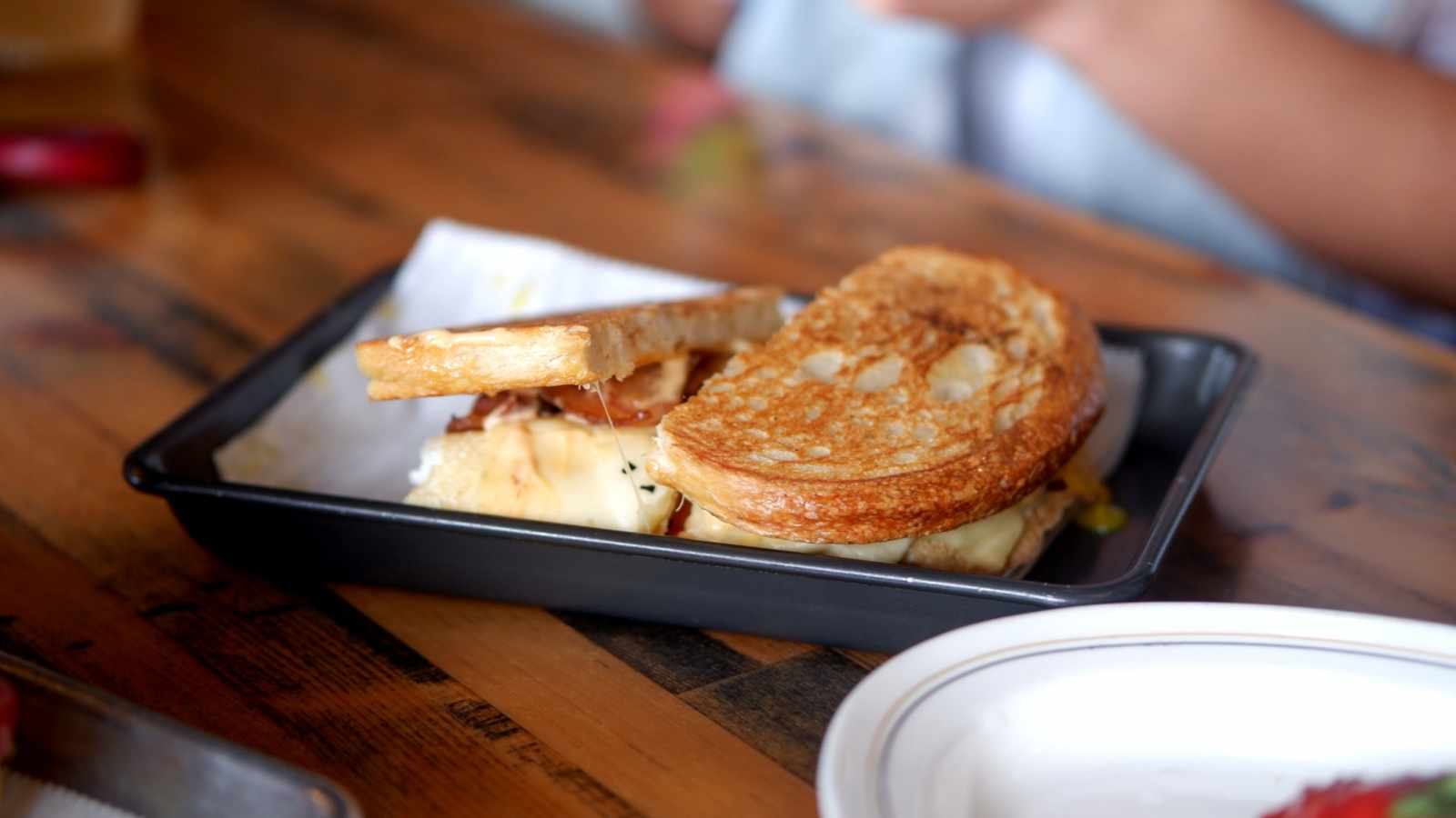 Harold Makes Chicken Adobo Grilled Cheese