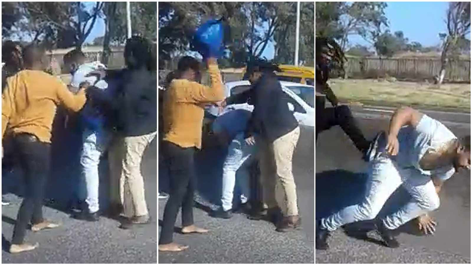 [WATCH] Highway hooligans: Ou attacked by taxi drivers