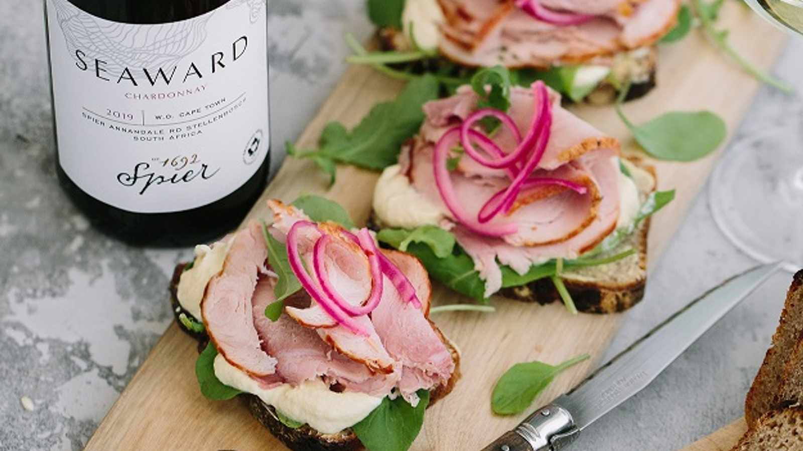 Open Sandwiches and Chardonnay