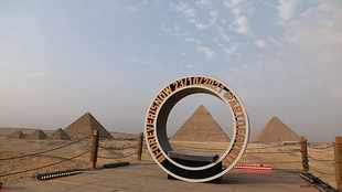 Egypt launches first international art exhibition at Giza Pyramids
