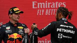 'I'm not massively disappointed': Lewis Hamilton plays down blow of another loss to Max Verstappen