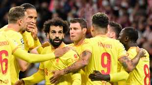 Mohamed Salah stars as Liverpool bag 'dirty three points' against 10-man Atletico Madrid