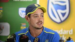 No statement yet from Quinton de Kock as his cricket career hangs in the balance