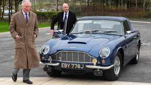 Prince Charles says his Aston Martin is powered by wine and cheese