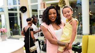 WATCH: DJ Zinhle teaching Kairo to wash her hands is too cute