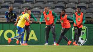 Gaston Sirino scores winner as Sundowns beat Bloem Celtic to complete historic treble