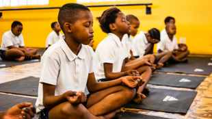 WATCH: Teaching kids in Khayelitsha to stretch their minds with yoga