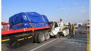 Truck driver killed, two others escape injury as three trucks crash on N3 in Ekurhuleni