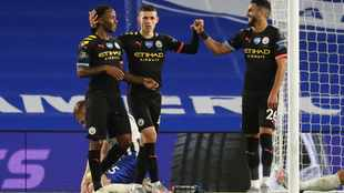 WATCH: Sterling scores hat-trick as City hit Brighton for five