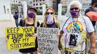25 NGOs join in taking a stand against GBV outside Parliament