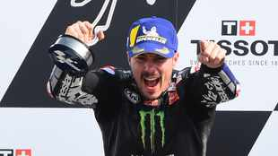 Maverick Vinales wins Emilia Romagna Grand Prix as SA's Brad Binder crashes