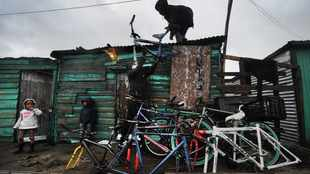 Bicycle hub in Langa offers cycling service, helping with food delivering
