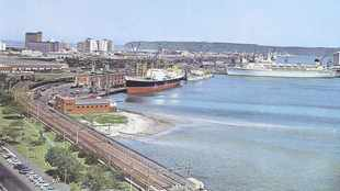 Then And Now: Durban harbour from the Embankment