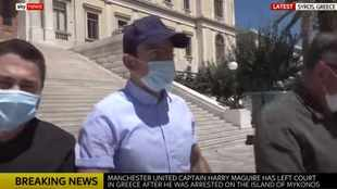 Harry Maguire a free man for now after court appearance in Greece