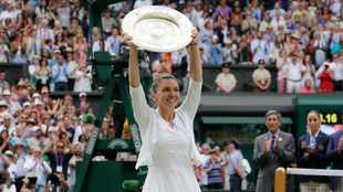 Wimbledon champ Halep happy after recovering from foot injury