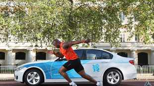 Olympic sprinter takes on BMW 320d