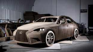 A real Lexus - made from cardboard!