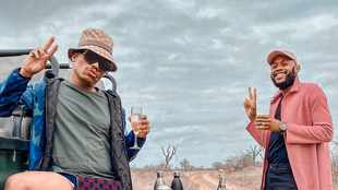 WATCH: Somizi and Mohale are giving us holiday FOMO as they enjoy luxury bush break