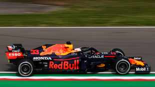 Max Verstappen tops the time-sheets in final practice at Imola