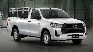 Here's what the new Toyota Hilux looks like in base form