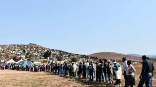 03/08/2016 Locals from Mshenguville informal settlement near Atteridgeville wait to cast their vote during the national municipal elections. Picture: Phill Magakoe