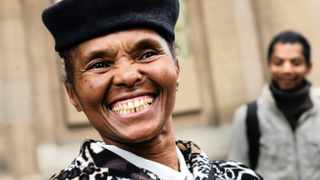 14/06/2016 The mother of Trevor Noah, Patricia Noah, outside the Johannesburg High Court in June 2016 Picture: Nhlanhla Phillips --