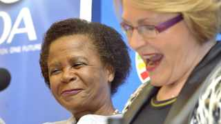 140128. Cape Town. Political party Agang SA leader Mamphela Ramphele will be the Democratic Alliance's presidential candidate in upcoming general elections, DA leader Helen Zille announced on Tuesday Picture Henk Kruger/Cape Argus