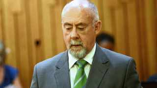 15/04/2013. Dr Wouter Basson during his hearing at the Health Proffesions Council of South Africa were he being probed for his role during the apartheid government's biological warfare programme Picture: Masi Losi