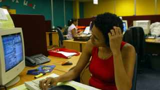 """16/04/04 \""""Verve illustration picture\"""" for the stressful looking woman in an office enviroment. pic: Mndeni Vilakazi"""