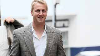 160312 Radio DJ Gareth Cliff is seen outside the Pretoria Magistrate's Court on Thursday, 15 March 2012 where he pleaded guilty to charges of contravening the Road Traffic Act. Cliff was sentenced to pay a fine of R10,000 or six months' imprisonment.Cliff was arrested on March 7 after he was caught driving at 182 kilometres an hour in a 120km/h zone near Pretoria. He was later released on bail.Picture: Werner Beukes/SAPA