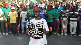 230114 Striking workers of anglo American platinum demanding R12 500 for increase.Photo Supplied