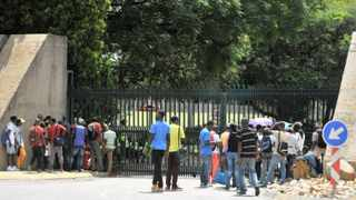 29/01/2014 Tshwane University of Technology students are kept from entering the institution as a result of the ongoing student protest. Picture: Phill Magakoe