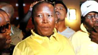 290212. In Seshego, Polokwane. ANCYL President Julius Malema before addresses his supporters outside the grandmother's house following his expulsion. Picture: Dumisani Sibeko