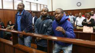 3 men suspected of killing a Durban businessman Kidesh Ramjettan in the Durban Magistrate's Court at their previous appearances/ Picture: DOCTOR NGCOBO