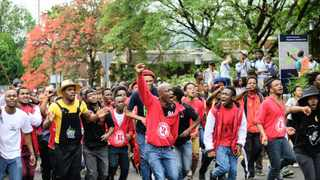 844 Wits University's Student Representative Council (SRC) has staged a major protest early Wednesday morning against the 10.5% fee increase  Picture: Bhekikhaya Mabaso