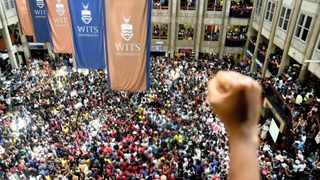 915 19/10/2015 Wits students protest at thier camps, because of the increase of fees which they say they can not afford, the protest started last week and the students say they will not stop untill thier heard. Picture:Nokuthula Mbatha