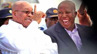 A 2009 file photo of former president Jacob Zuma and EFF leader Julius Malema. File picture: African News Agency (ANA)