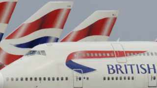 A British Airways (BA) Boeing 747 is seen as it taxis at Heathrow Airport in west London in this May 11, 2010 file photograph. British Airways won a court injunction to stop cabin crew from going on strike on May 17, 2010. REUTERS/Toby Melville/Files (BRITAIN - Tags: TRANSPORT BUSINESS EMPLOYMENT TRAVEL)