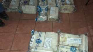 A MAN travelling from Mozambique was arrested at the Lebombo border, allegedly with drugs worth R7.2 million hidden in a false compartment in his truck. Picture: Hawks
