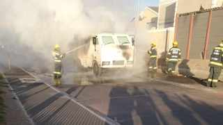 A SBV guard was killed and two injured when criminals threw a petrol bomb in a cash van in Gugulethu. Picture: Supplied