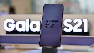 A Samsung Electronics Galaxy S21 Ultra 5G smartphone at the company's Digital Plaza store in Seoul, South Korea. Picture: Bloomberg/SeongJoon Cho