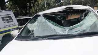 A boulder ripped through the windscreen of the car the Haffajee siblings were travelling in, fatally injuring the youngsters.