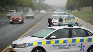 A brigade of traffic vehicles were parked along Brackenfell Boulevard to mark the start of the Easter Safety Plan. Traffic Law Enforcement interventions together with effective road safety education, communication and awareness programmes aimed at positively influencing all road users to behave responsibly while using the road network during the crucial 2021 Easter festivities. Picture Henk Kruger/African News Agency (ANA)
