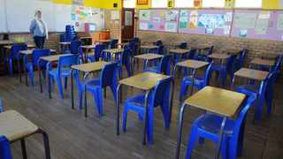 A classroom ready for learners. An organisation representing parent believes rushing children back to school will place educators and learners at risk of contracting Covid-19. Picture Courtney Africa/African News Agency(ANA)