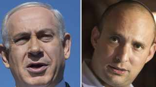 A combination photo shows Israel's Prime Minister Benjamin Netanyahu and Naftali Bennett (R), leader of the Bayit Yehudi party. Picture: Reuters