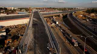 A construction site near a newly-opened portion of a ring road is seen in Warsaw. File picture: Kacper Pempel/Reuters