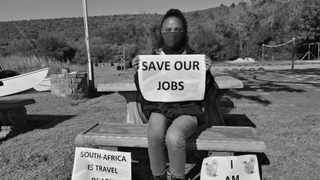 """A employee in the travel sector who is part of the """"South Africa is Travel Ready"""" movement. Picture: Supplied."""
