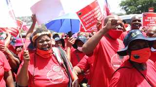 A file picture of Nehawu health workers protesting. Picture: Doctor Ngcobo/African News Agency (ANA)