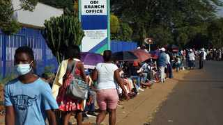 A file picture of Sassa recipients left stranded as striking security officers shutdown the Ga-Rankuwa office. Picture: Oupa Mokoena/African News Agency (ANA)
