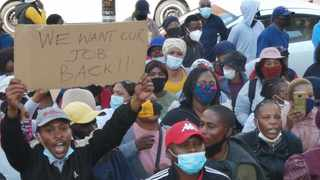 A file picture of general workers, who claim the City of Tshwane terminated their contract jobs unlawfully, demanding to be reinstated into their positions during a protest outside Tshwane House. Picture: Jacques Naude/African News Agency (ANA)